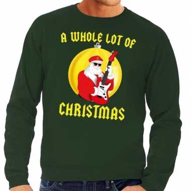 Foute feest kerst sweater groen a whole lot of christmas heren kerst