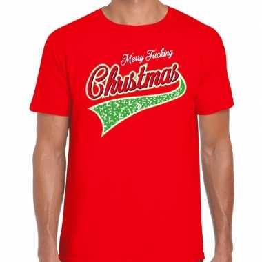 Foute fout kerstborrel shirt / kerstshirt merry fucking christmas roo