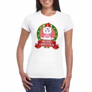 Foute fout kerstmis shirt eenhoorn dames kersttrui