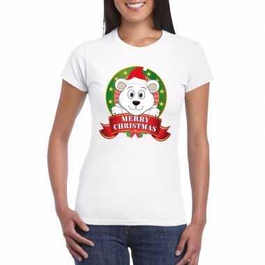 Foute fout kerstmis shirt ijsbeer dames kersttrui