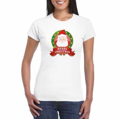Foute fout kerstmis shirt kerstman print dames kersttrui