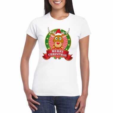 Foute fout kerstmis shirt rendier rudolf dames kersttrui