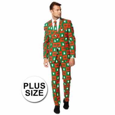 Foute grote maten heren kostuum treemendous kersttrui