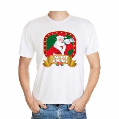 Foute kers wit dronken kerstman heren kersttrui