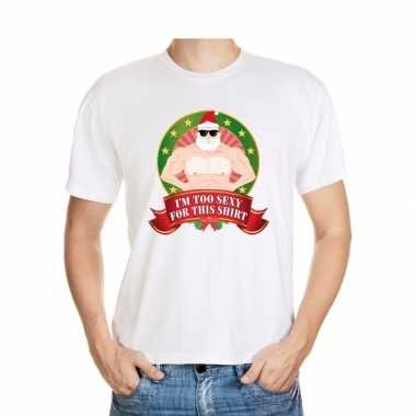 Foute kers wit im too sexy for this shirt heren kersttrui