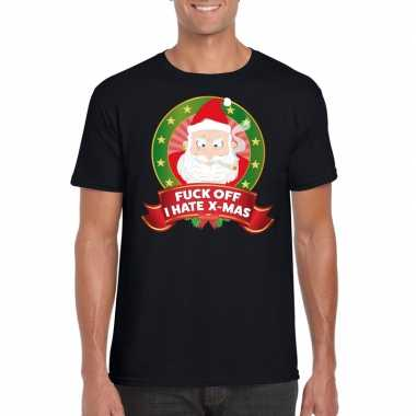 Foute kers zwart fuck off i hate x mas heren kersttrui