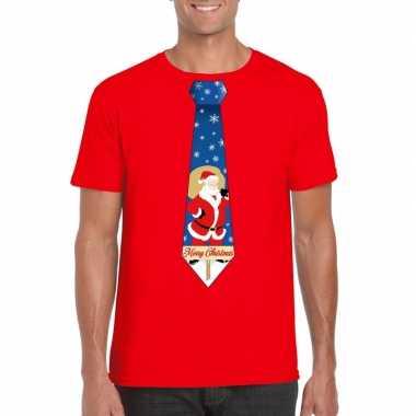 Foute kerst kerstman stropdas rood heren kersttrui