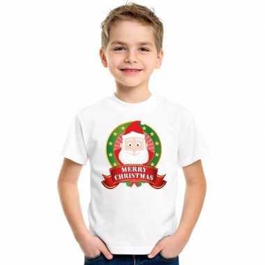 Foute kerstman kerstmis shirt wit jongens meisjes kersttrui