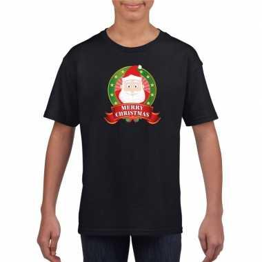 Foute kerstman kerstmis shirt zwart jongens meisjes kersttrui