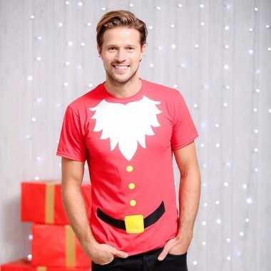 Foute kerstmannen print heren kersttrui