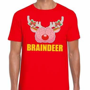 Foute kerstmis braindeer rood heren kersttrui