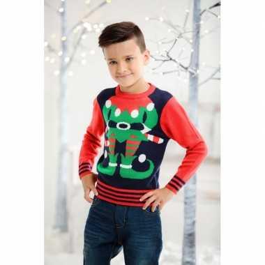 Foute kersttrui elfje kids