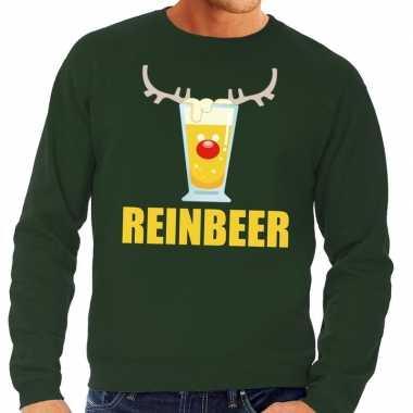 Foute kersttrui groen biertje heren