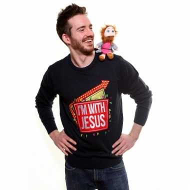 Foute kersttrui i am with jesus