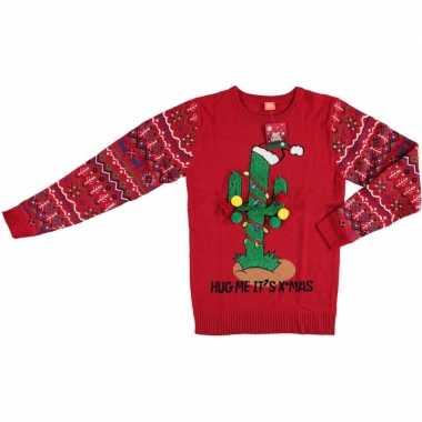Foute kersttrui kerstcactus dames heren