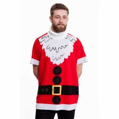 Lelijke Kersttrui Kopen.Foute Kersttrui Kerstman Poncho Foute Kersttrui Nl