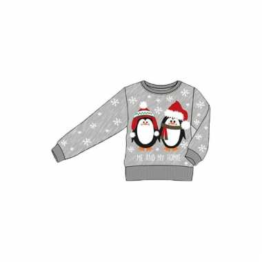 Foute kersttrui pinguins kinderen