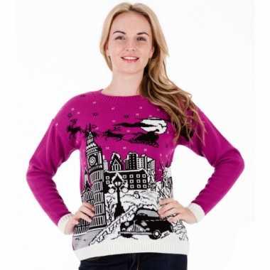 Foute kersttrui pink london dames