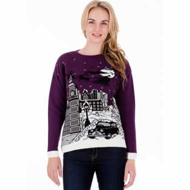 Foute kersttrui purple london dames