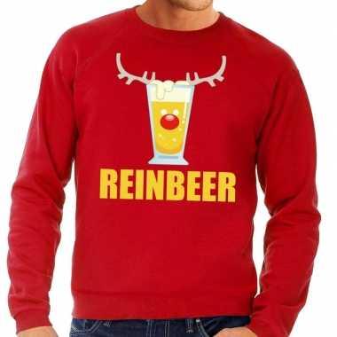 Foute kersttrui rood biertje heren