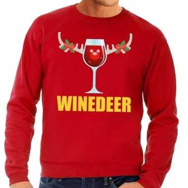 Foute kersttrui rood wijntje heren