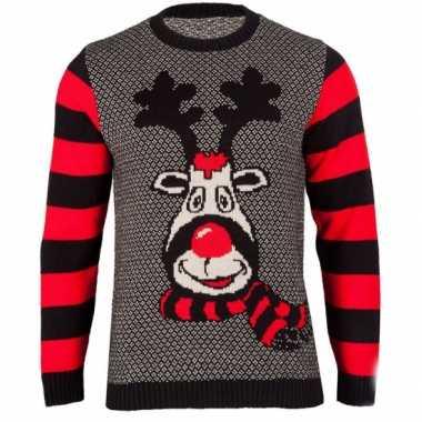 Foute kersttrui rudy reindeer dames