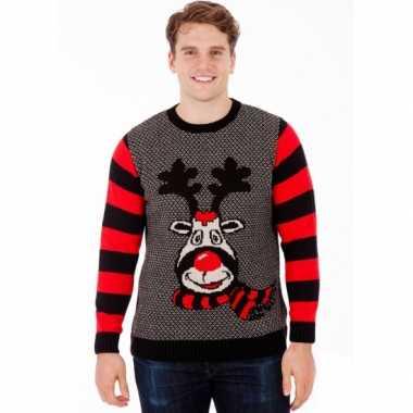 Foute kersttrui rudy reindeer heren