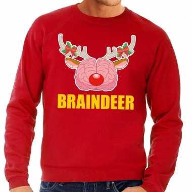 Foute kersttrui / sweater braindeer rood heren