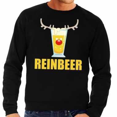 Foute kersttrui zwart biertje heren