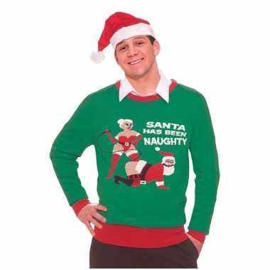 Foute kersttruien Naughty Santa