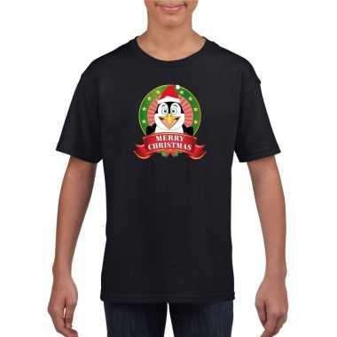 Foute Kersttrui Pinguin.Foute Pinguin Kerstmis Shirt Zwart Jongens Meisjes Kersttrui Foute