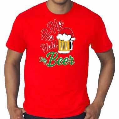 Foute rood kers / kerstkleding ho ho hold my beer heren grote maten kersttrui