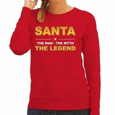 Foute the man, the myth the legend santa sweater / kersttrui rood dames