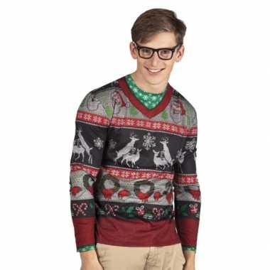 Foute verkleed kersttrui heren