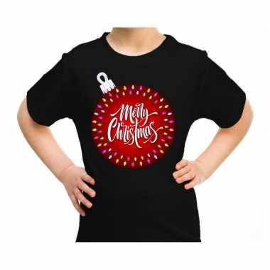 Foute zwart / kerstkleding kerstbal merry christmas kinderen kersttrui