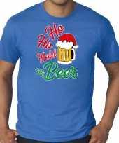 Foute blauw kers kerstkleding ho ho hold my beer heren grote maten kersttrui