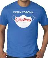 Foute blauw kers kerstkleding merry corona christmas heren grote maten kersttrui