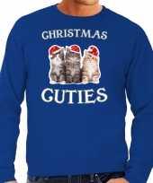 Foute blauwe kersttrui kerstkleding christmas cuties heren