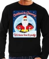 Foute duitsland kerstborrel trui kersttrui christmas germany zwart heren
