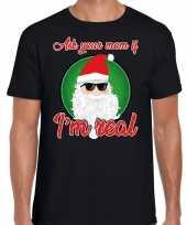 Foute fout kers stoere kerstman i am real zwart heren kersttrui