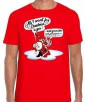 Foute fout kerstborrel shirt fout kerst zingende kerstman gitaar rood heren kersttrui