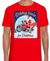 Foute fout kerstborrel shirt kerstshirt driving home for christmas rood motorrijders heren kersttrui