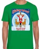 Foute fout kerstborrel shirt kerstshirt history repeats groen heren kersttrui