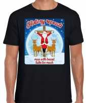 Foute fout kerstborrel shirt kerstshirt history repeats zwart heren kersttrui
