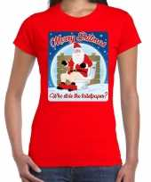 Foute fout kerstborrel shirt kerstshirt merry shitmas rood dames kersttrui