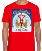 Foute fout kerstborrel shirt kerstshirt now i believe rood heren kersttrui