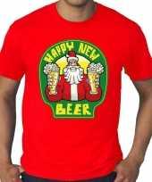 Foute grote maten oud nieuw kers happy new beer rood heren kersttrui