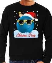 Foute kerstborrel sweater kersttrui christmas party zwart heren