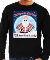 Foute kerstborrel trui kersttrui christmas brabant zwart heren