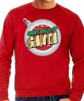 Foute kerstborrel trui kersttrui great balls of santa rood heren